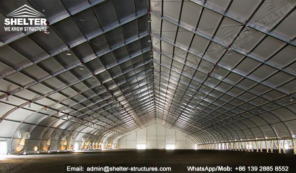 Clear span hangar building coverall aircraft hangar for Clear span garages