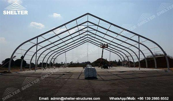 Aircraft Hangar Ventilation : Clear span hangar building coverall aircraft