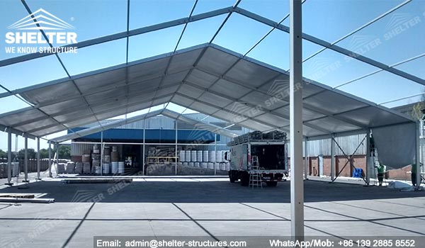 24m Width Temporary Warehouse Contruction in Chile