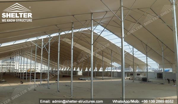 65m Workshop Building with Support Beams for Manufacturing Factory