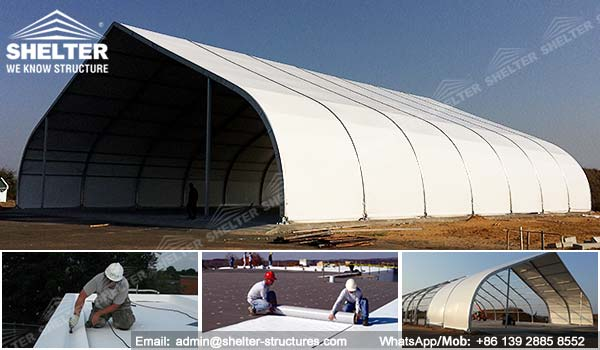 How To Install PVC Roofing Membranes On Tension Fabric Tents ?