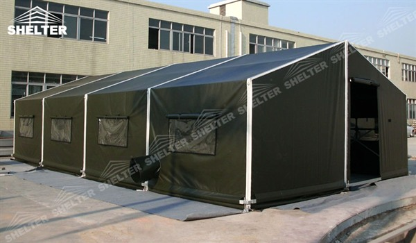 Army Modular Tent with Opaque PVC Vinyl - Military Shelter