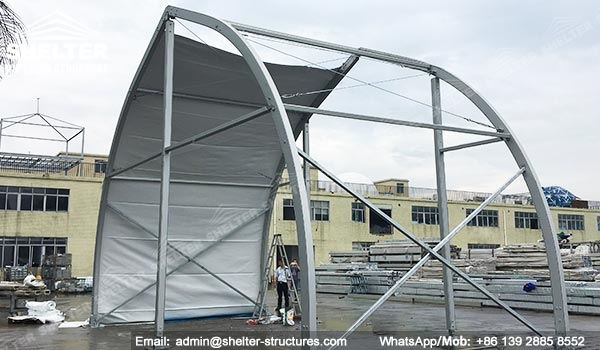 Temporary Fabric Storage Building For Civil And Mining