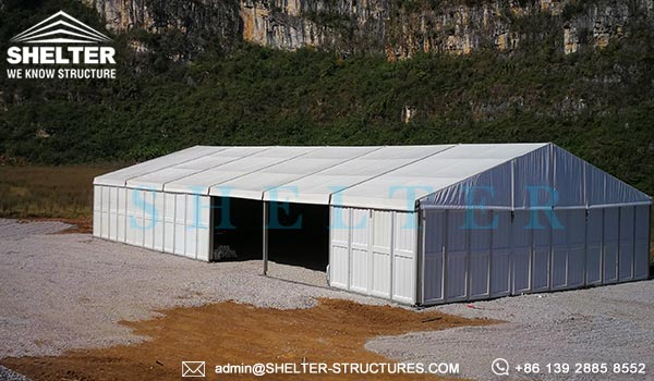 Clear Span Fabric Building For Mining Camp Warehouse