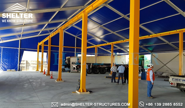 Clear Span Warehouse Building U2013 Sunshade Tent Solution For Outdoor Loading  And Unloading
