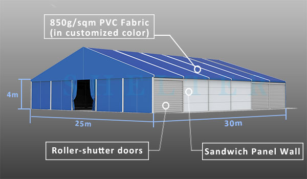 CATEGORY Industrial Tents & Clear span warehouse building solution for Industrial loading bay ...