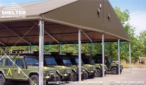 Temporary Military Tent System Clear Span Fabric Tent
