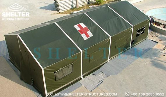 Rapid Deployment Shelter : Military tent for disaster response shelter quickly