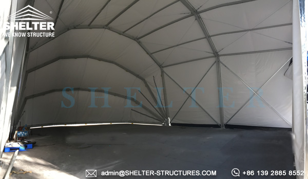 Prefab Military Vehicle And Aircraft Shelter Sun Shade