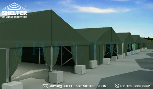 Rapid Deployment Tent Shelter For Military Camp Solutions