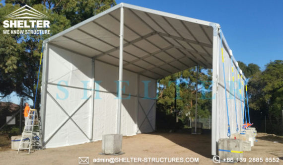Oilfield mining tent for outdoor construction projects for Semi permanent tents