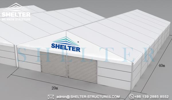 Storage Tents With Sandwich Panel For Public Facilities