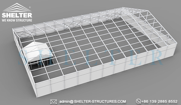 temporary storage structure-temporary aluminum structures-clearspan fabric storage structures with inner office space-warehouse office design (1)