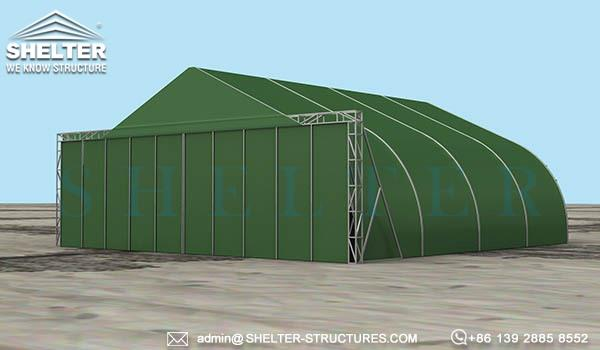 military army navy hangar buildings with sliding bifold door-rapid deployment relocatable weather withstand (2)