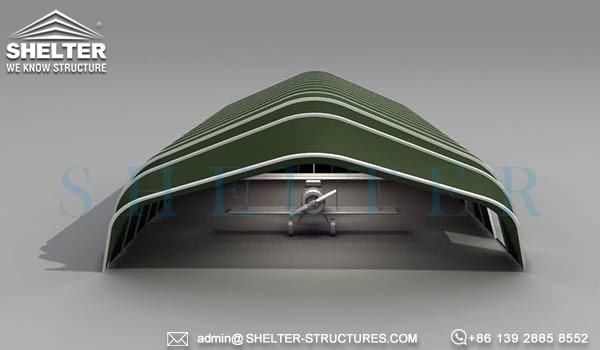 military army navy hangar buildings-with-fabric-clamshell-door-rapid deployment relocatable weather withstand-shelter warehouse (2)