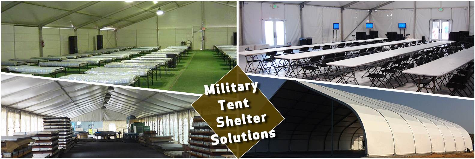 temporary-military-shelter-tents---clear-span-army-tents-solutions---warehouse-storage-tents-for-sale---temporary-soldier-housing-sleeping-quarters---waterproof-military-shelters